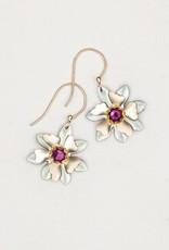 Holly Yashi Sage/ Purple Alexa Earrings