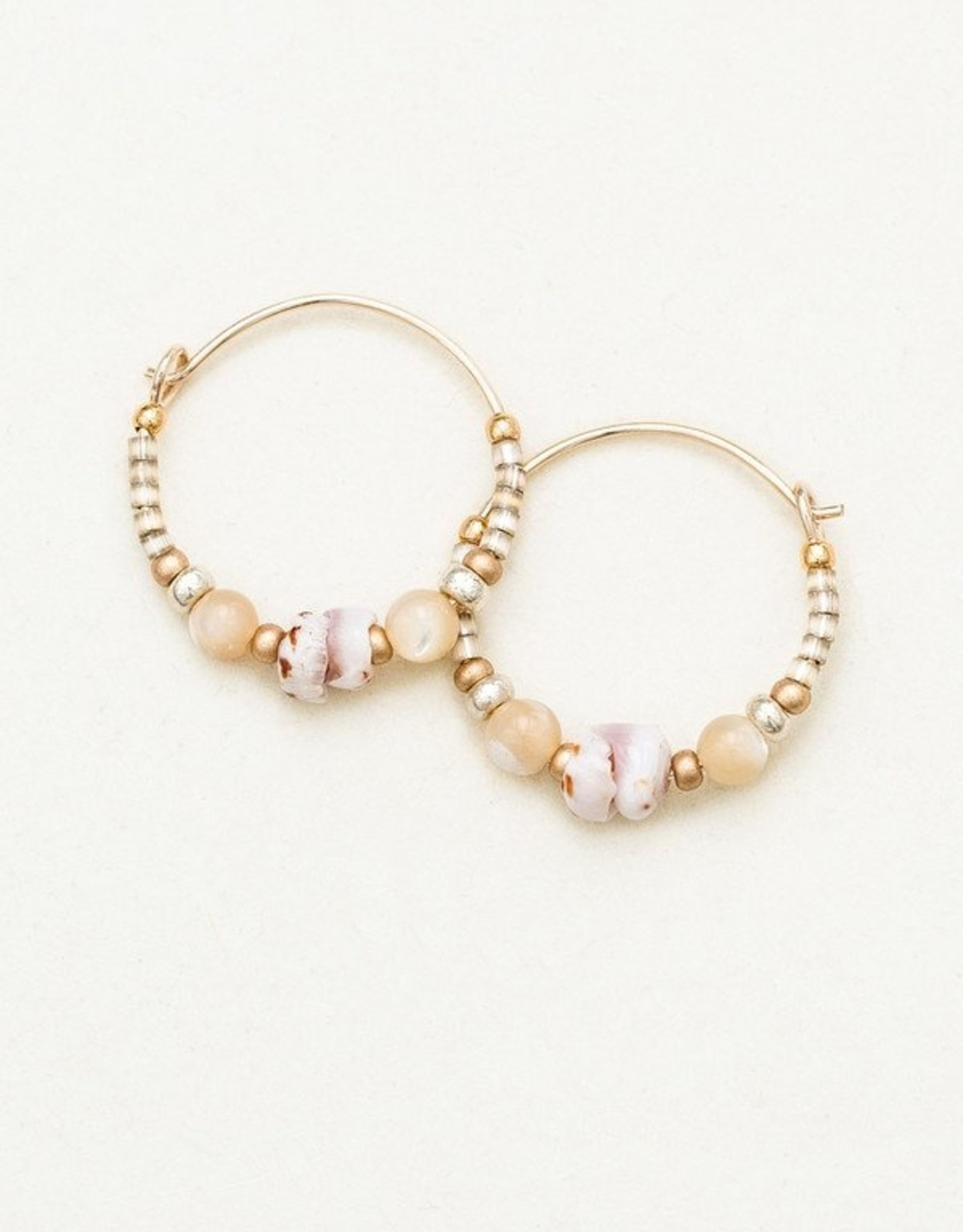 Holly Yashi Sand Dollar Sonoma Petite Glass Bead Hoops