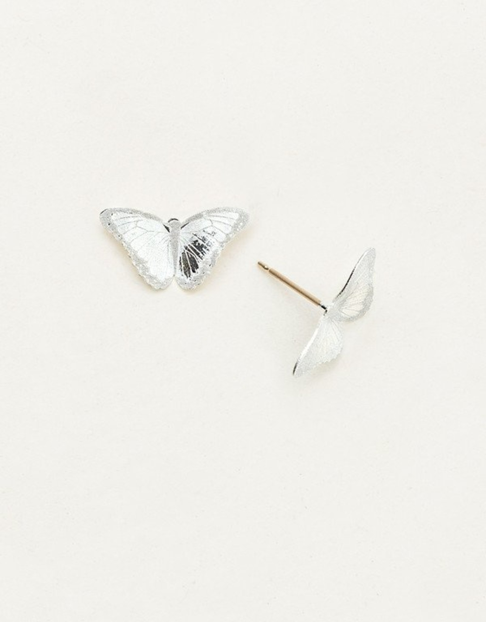 Holly Yashi Silver Petite Bella Butterfly Post Earrings