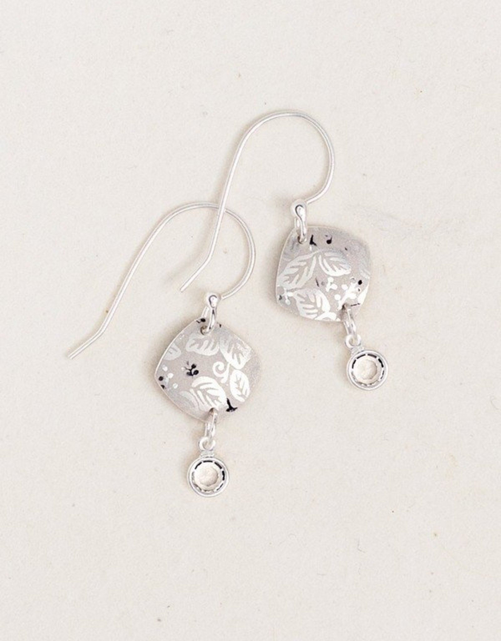 Holly Yashi Silver Square Leaf Earrings
