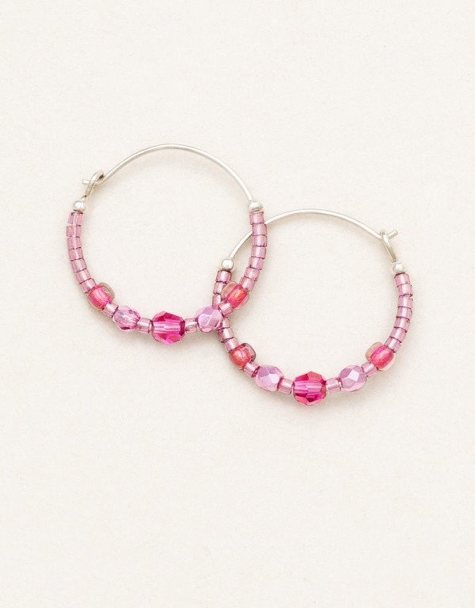 Holly Yashi Sparkle of Pink Sonoma Glass Hoops