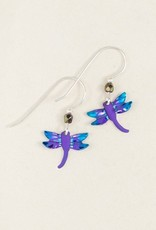 Holly Yashi Teal Dragonfly Earrings