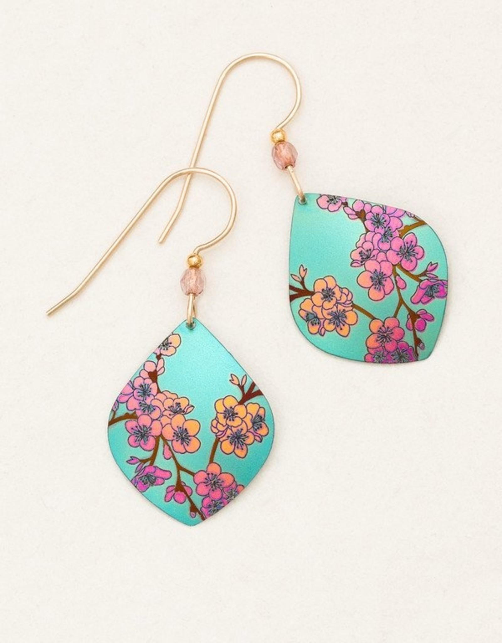 Holly Yashi Teal Spring in Bloom Earrings