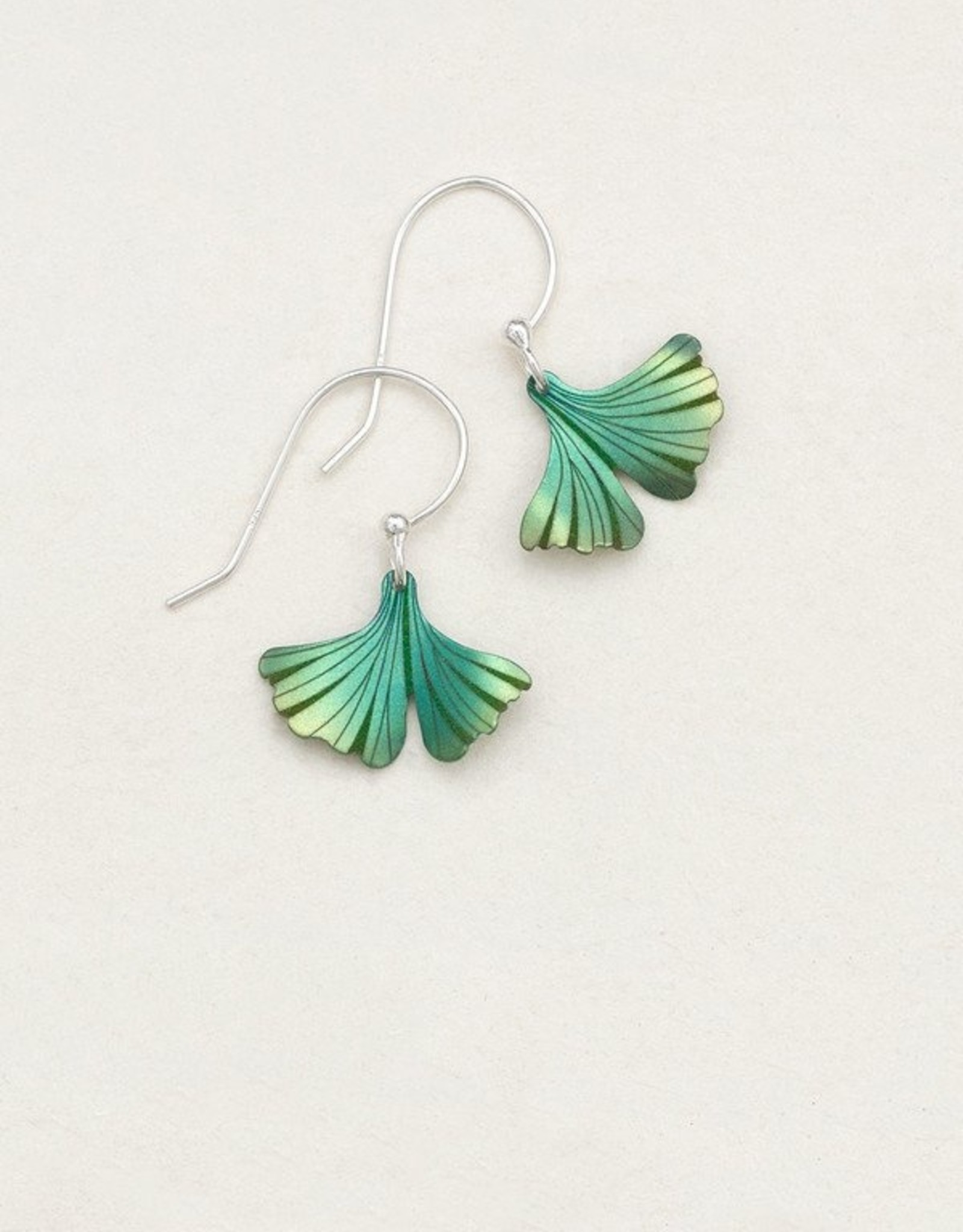 Holly Yashi Turquoise/ Green Petite Ginkgo Earrings