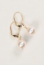 Holly Yashi White/Gold Classic Earrings