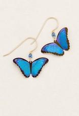 Holly Yashi Blue Radiance Bella Butterfly Earrings