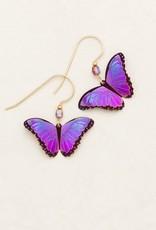 Holly Yashi Ultra Violet Bella Butterfly Earrings