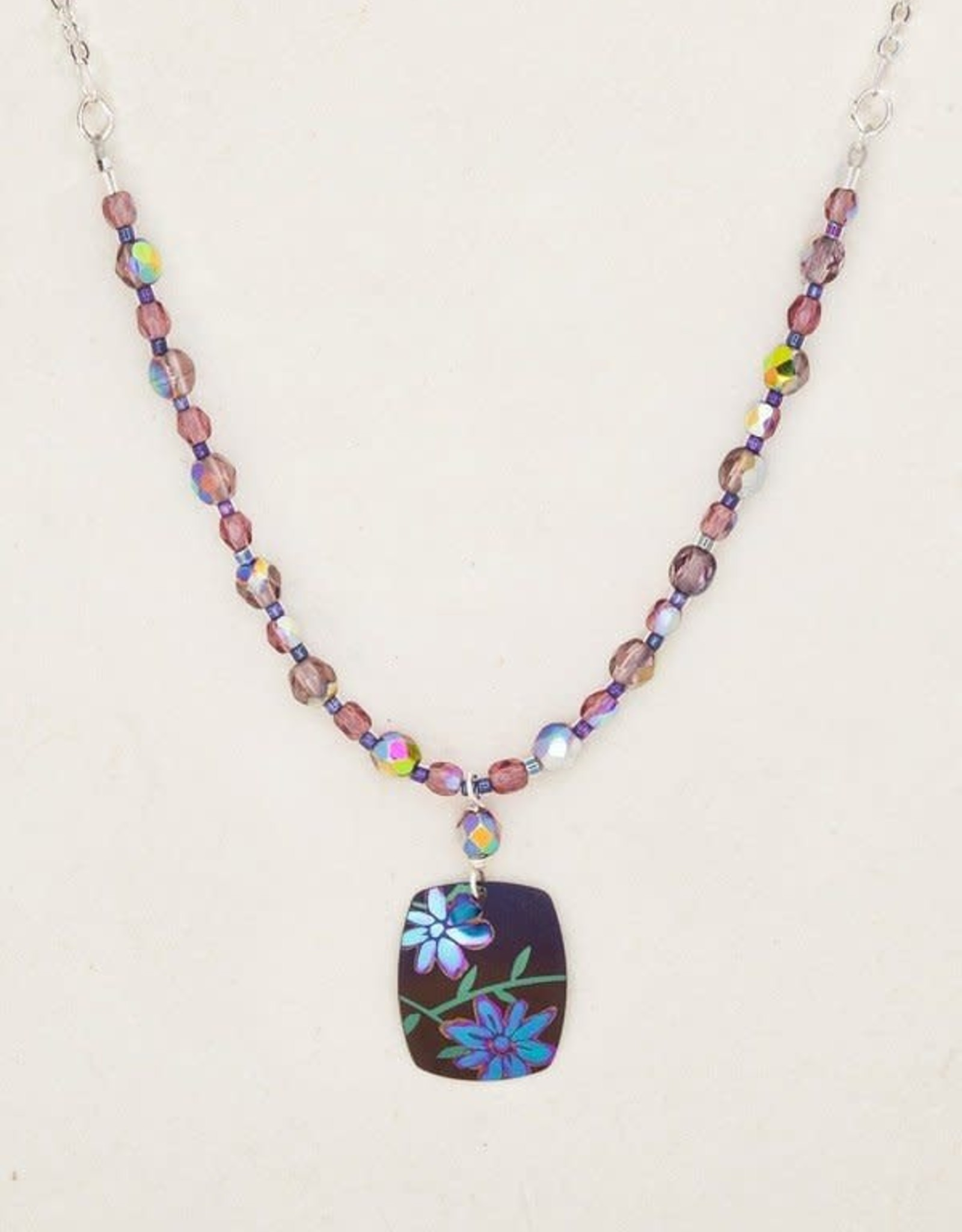 Holly Yashi Brown/Purple Meadow Beaded Necklace