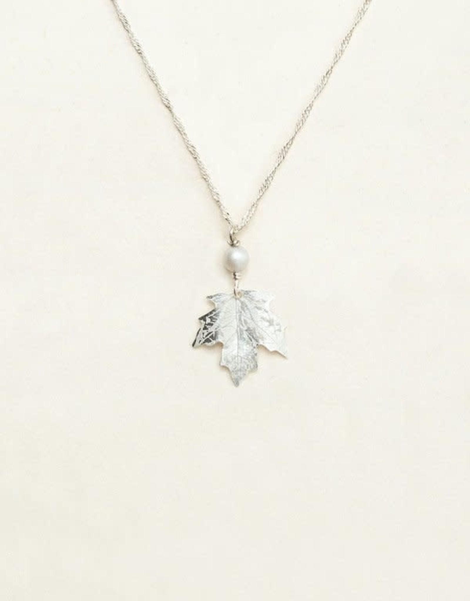 Holly Yashi Silver Sugar Maple Pendant Necklace