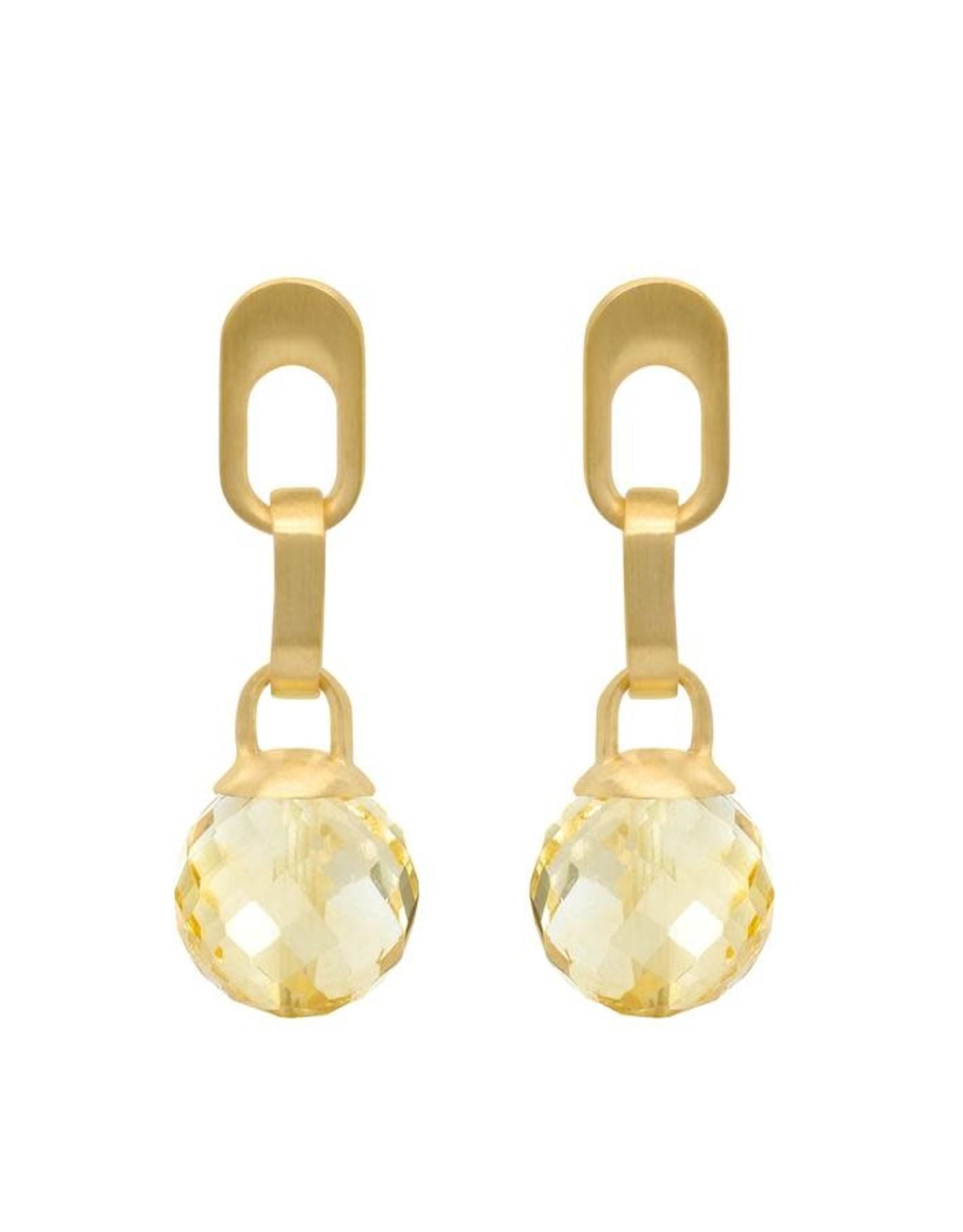 Dean Davidson Manhattan Gemstone Drop Earrings - Citrine