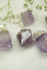 Nomad Crystals Silver Plated Amethyst Necklace