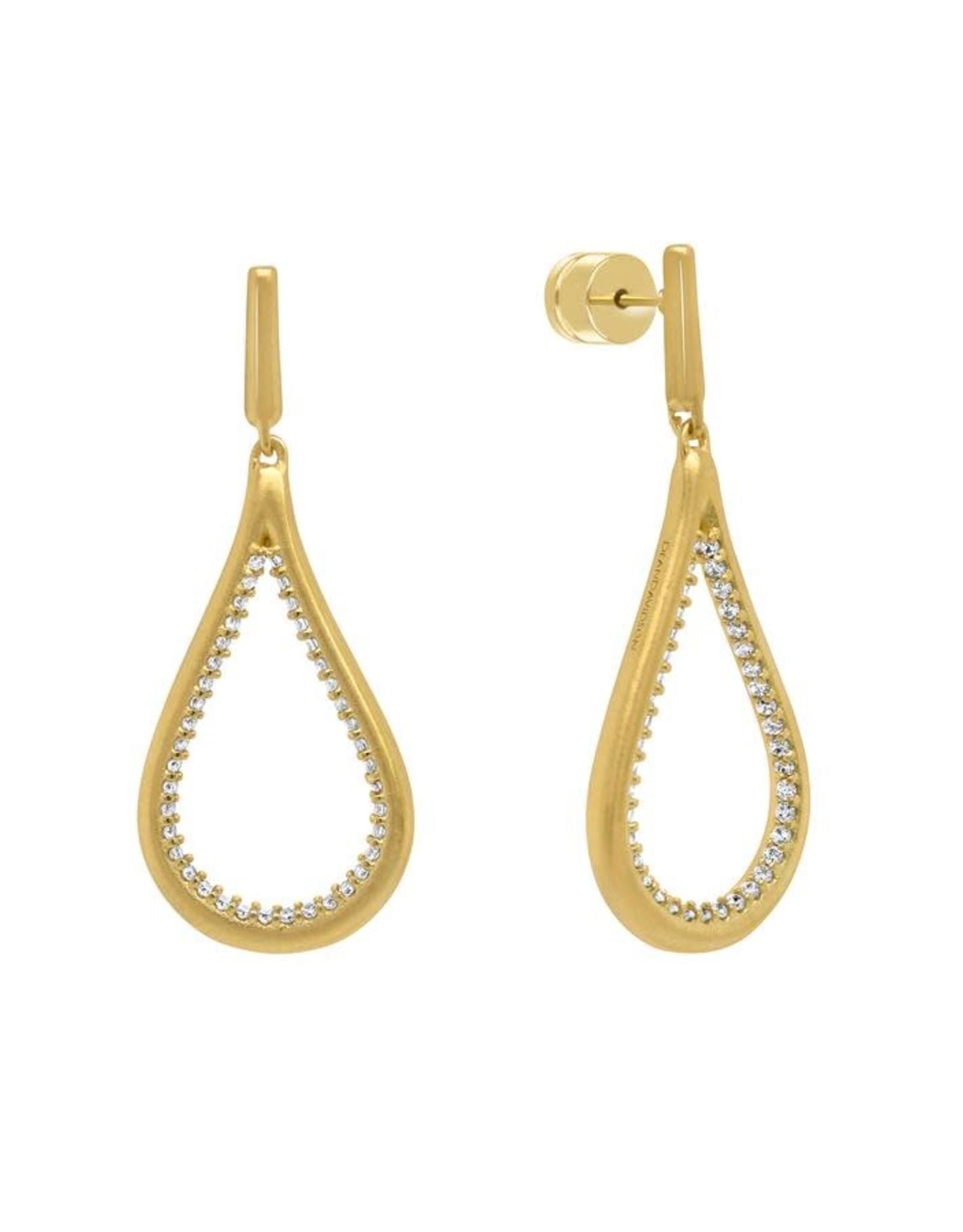 Dean Davidson White Topaz Pave Teardrop Earrings