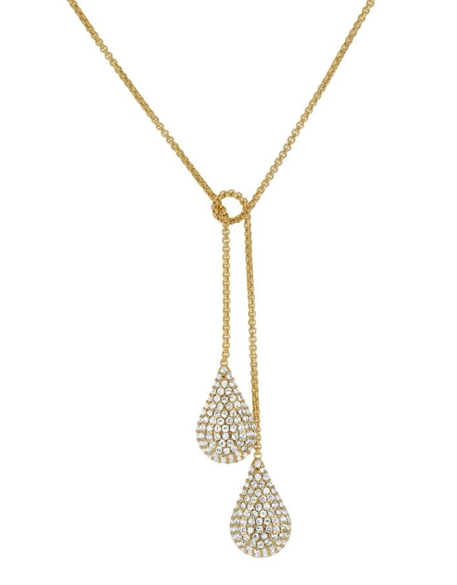 Dean Davidson Pave Teardrop Wrap Necklace - White Topaz