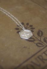 Tashi Hexagon Bee Necklace