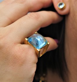 Dean Davidson Core Plaza Ring Blue Topaz - Sz 6