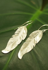 Holly Yashi Silver Petite Free Spirit Feather Earrings