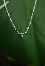 Tashi Triangle of Turquoise Necklace
