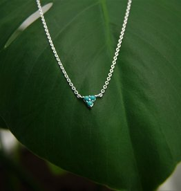 Tashi Triangle of Turquoise Necklace
