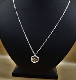 Tashi Hexagon Bee Necklace