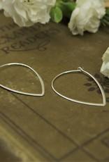 Tashi Pointed Drop Hoop Earrings
