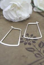 Tashi Flared Rectangle Wire Hoops