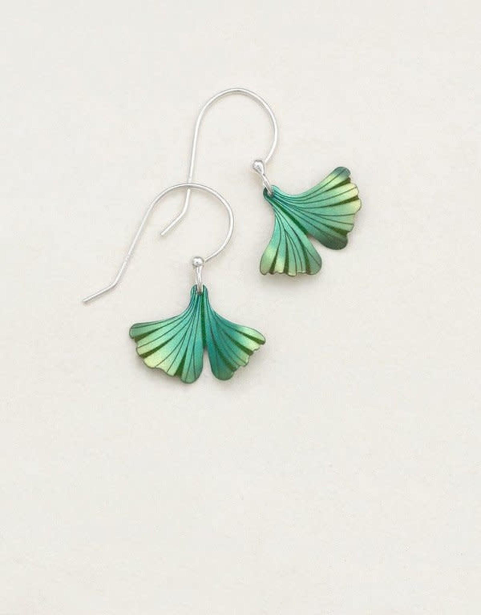 Holly Yashi Sage Petite Ginkgo Earrings
