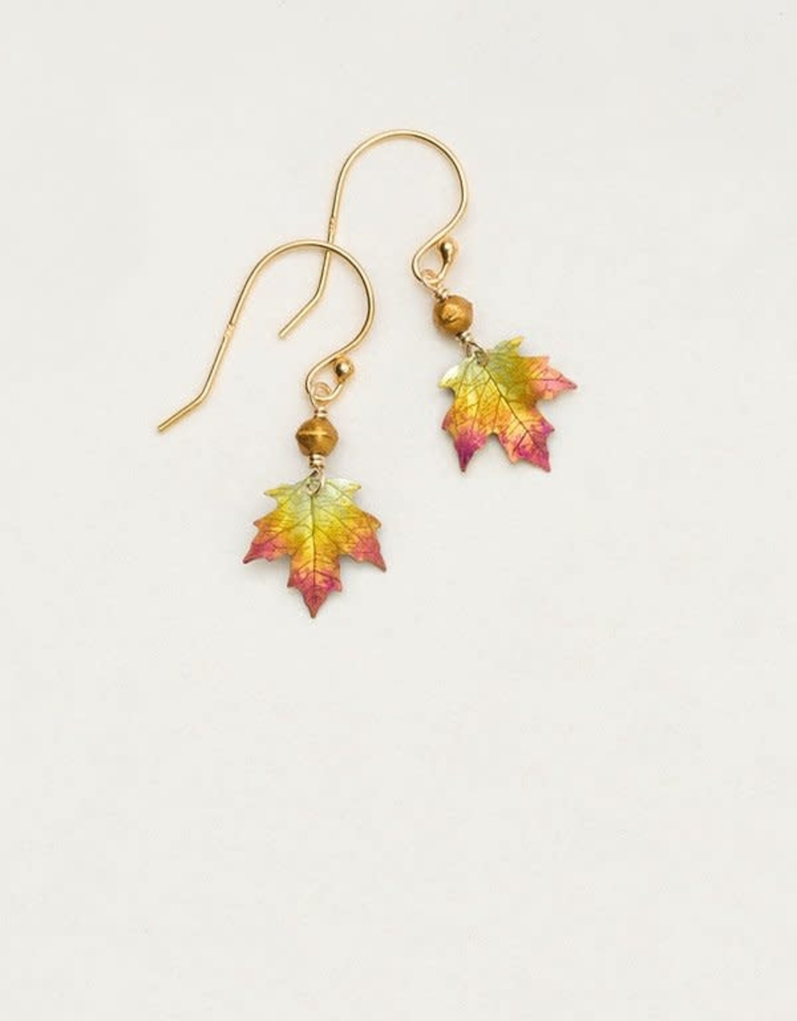 Holly Yashi Peach Petite Sugar Maple Earrings