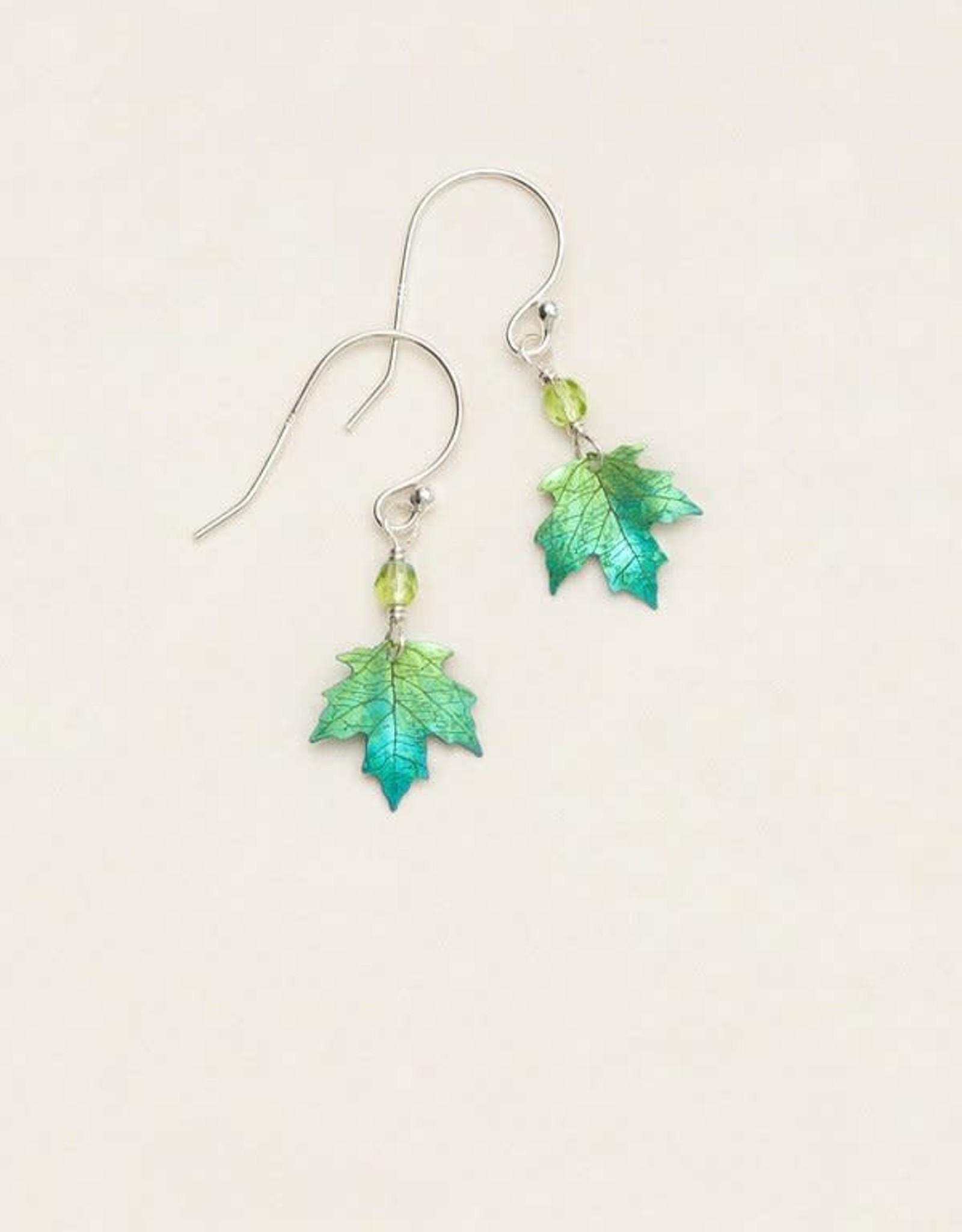 Holly Yashi Green Petite Sugar Maple Earrings