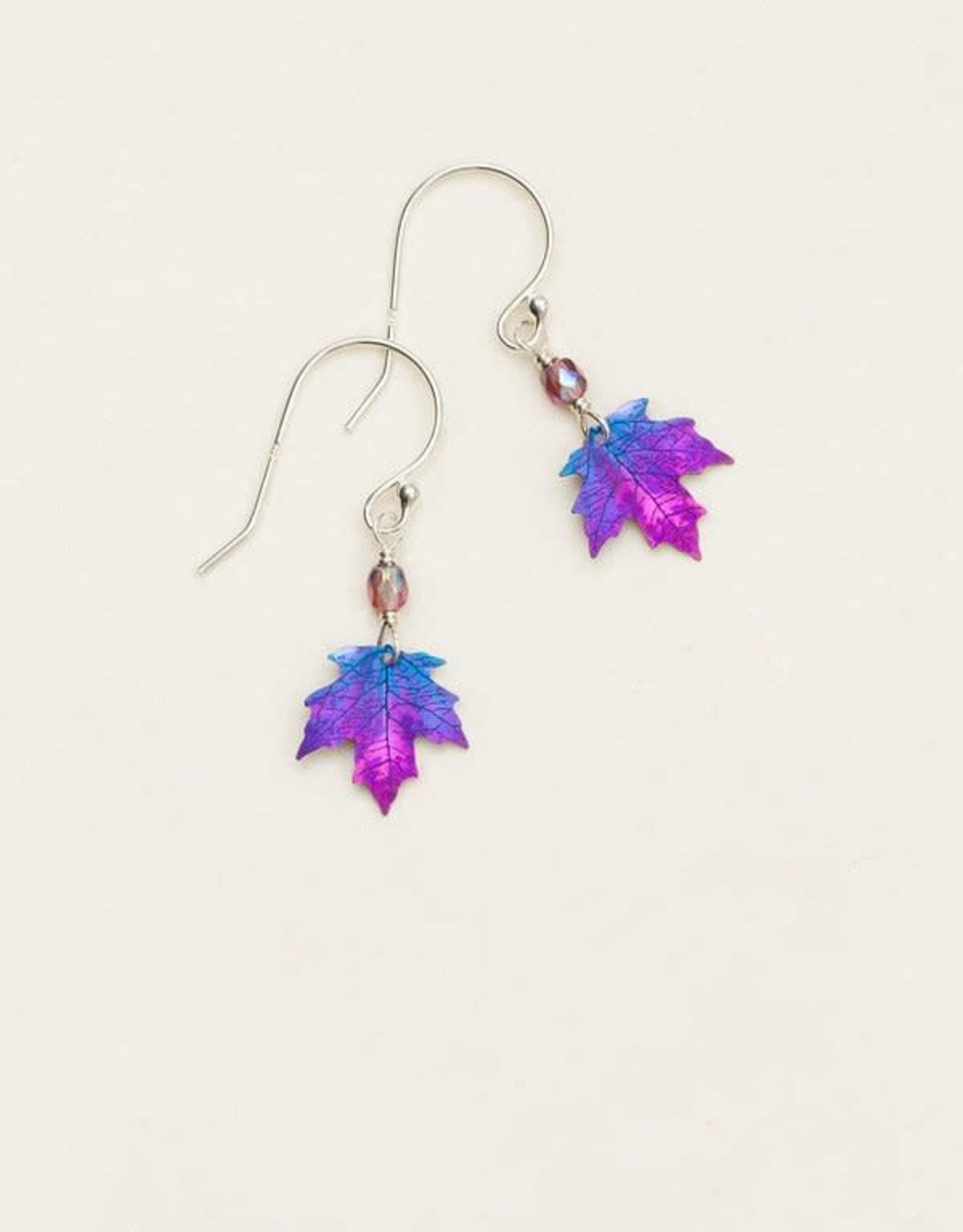 Holly Yashi Purple Petite Sugar Maple Earrings