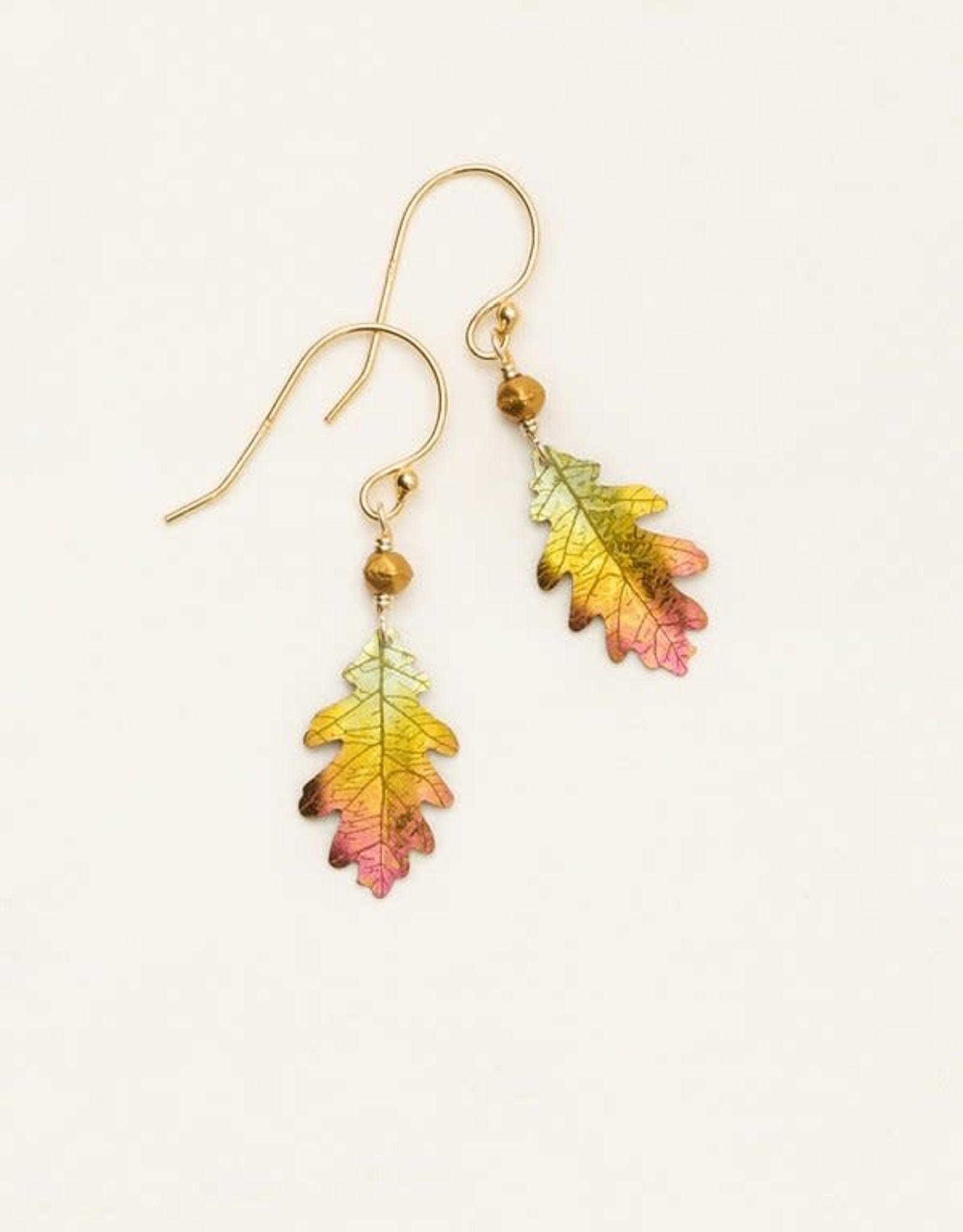 Holly Yashi Peach Royal Oak Earrings
