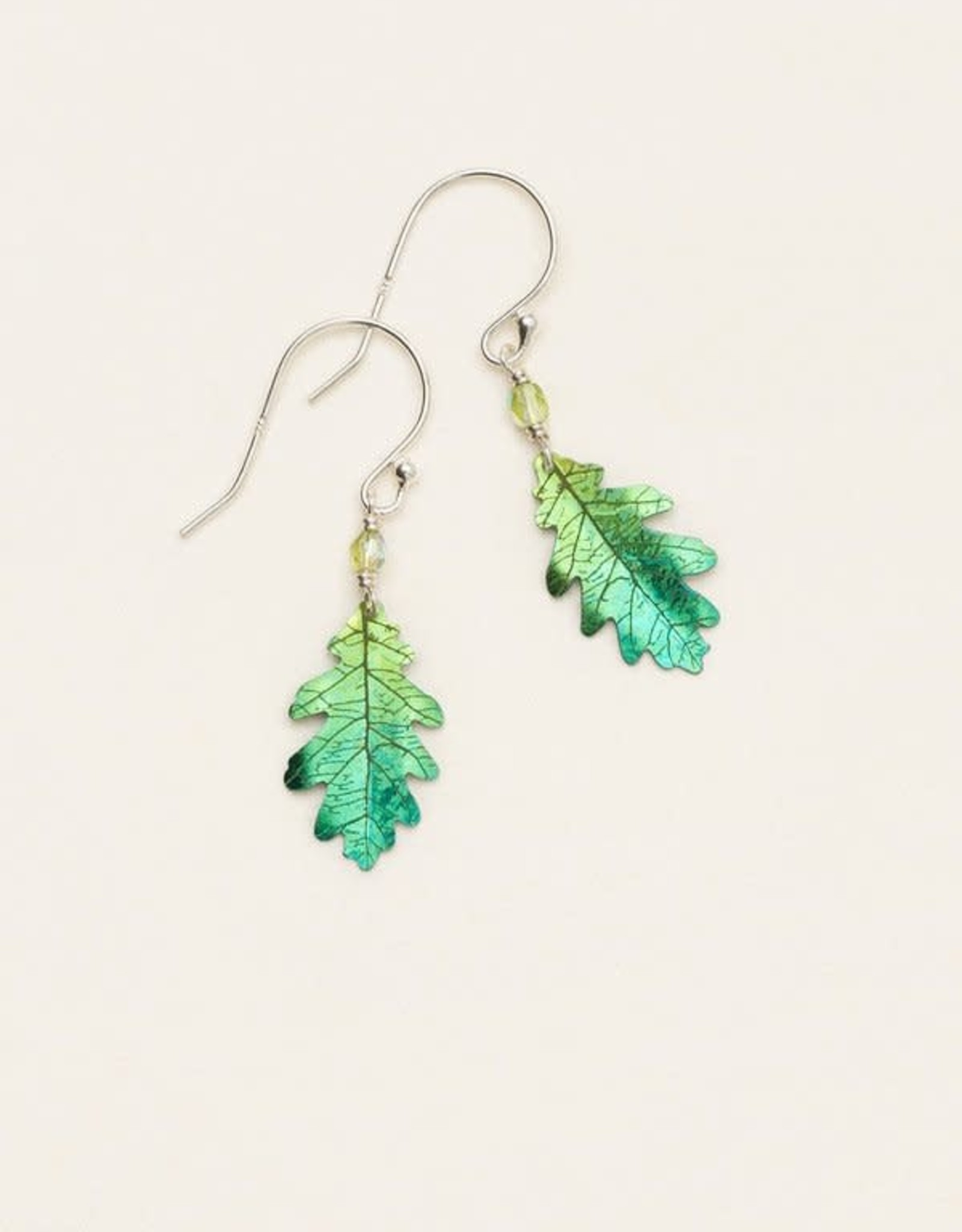 Holly Yashi Green Royal Oak Earrings