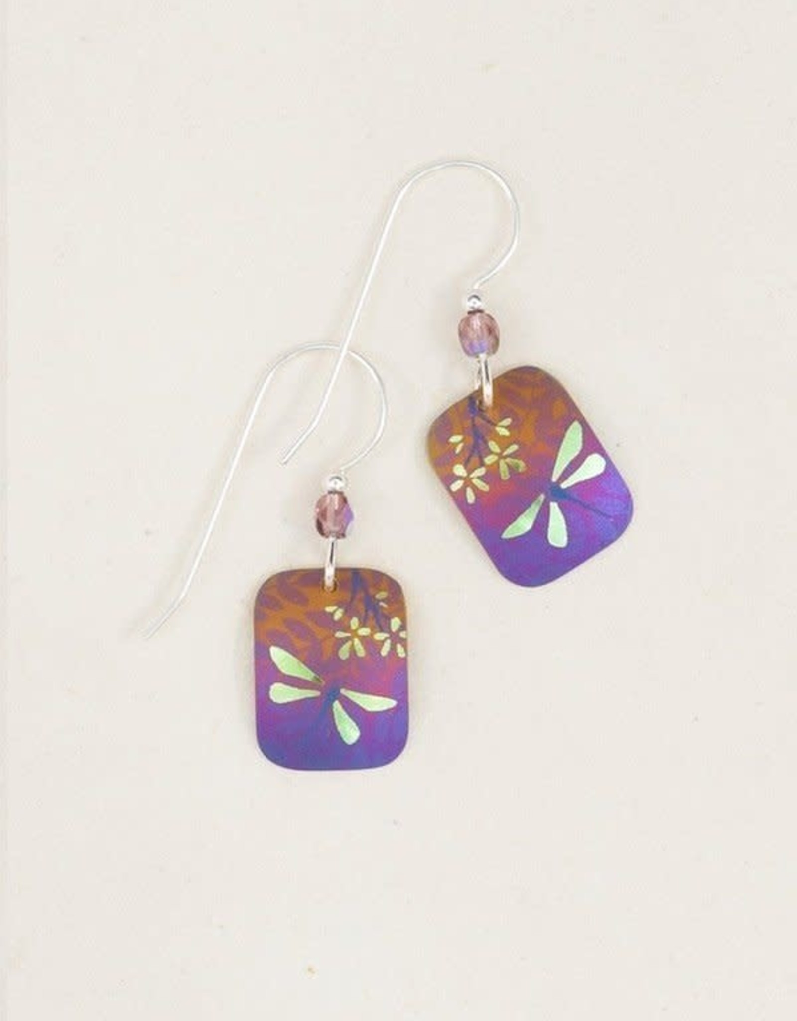 Holly Yashi Purple/Lime Garden Party Earrings