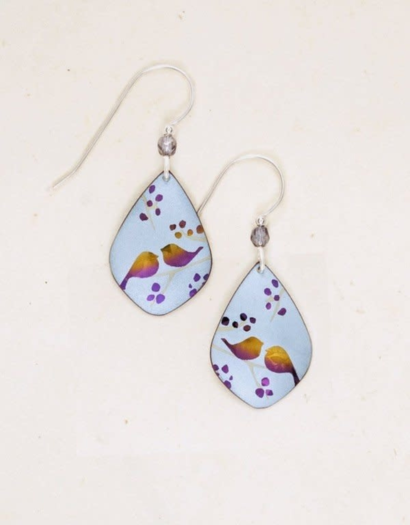 Holly Yashi Blue Lovebirds Earrings