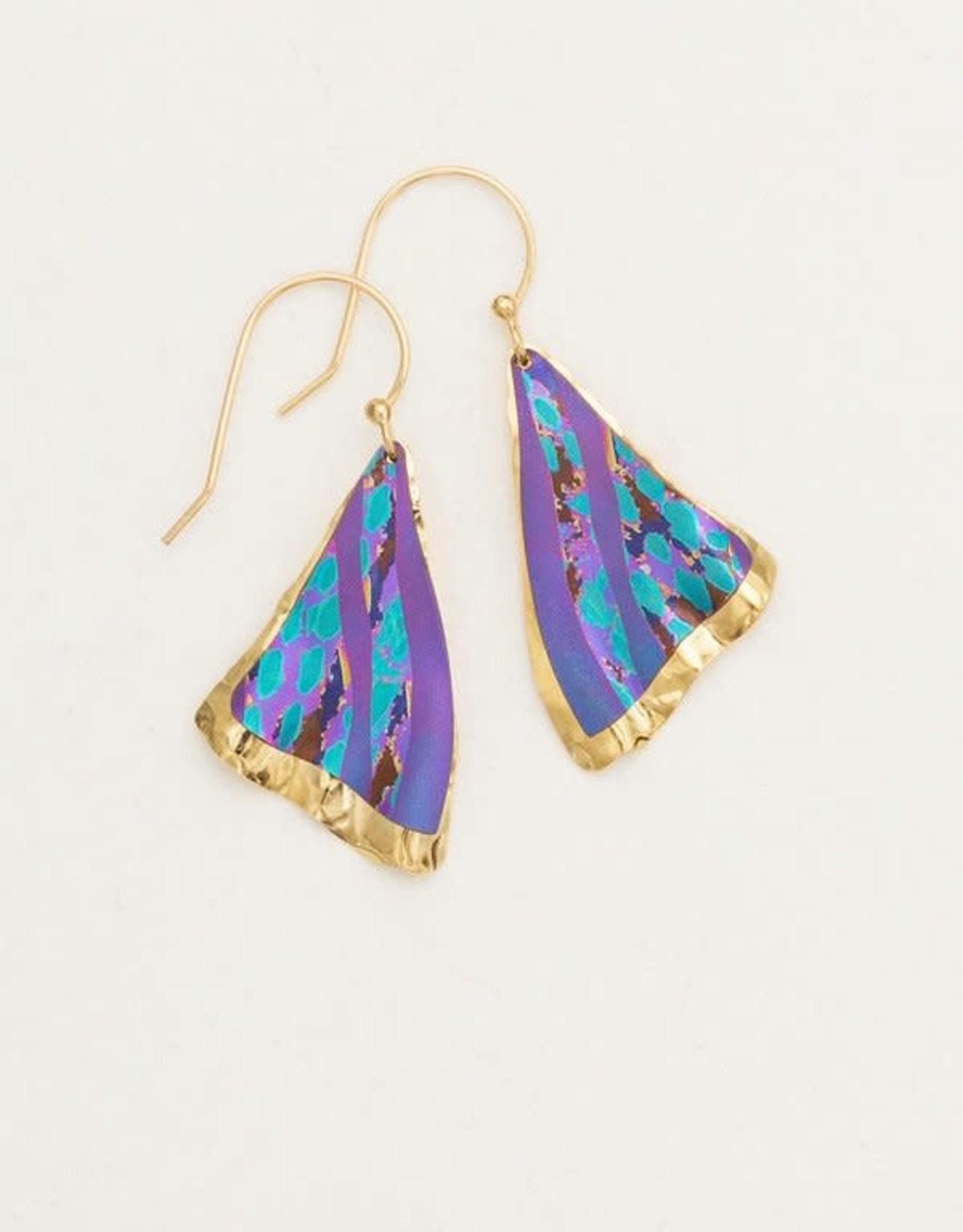 Holly Yashi Purple Petite Misty Point Earrings