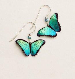 Holly Yashi Green Flash Bella Butterfly Earrings