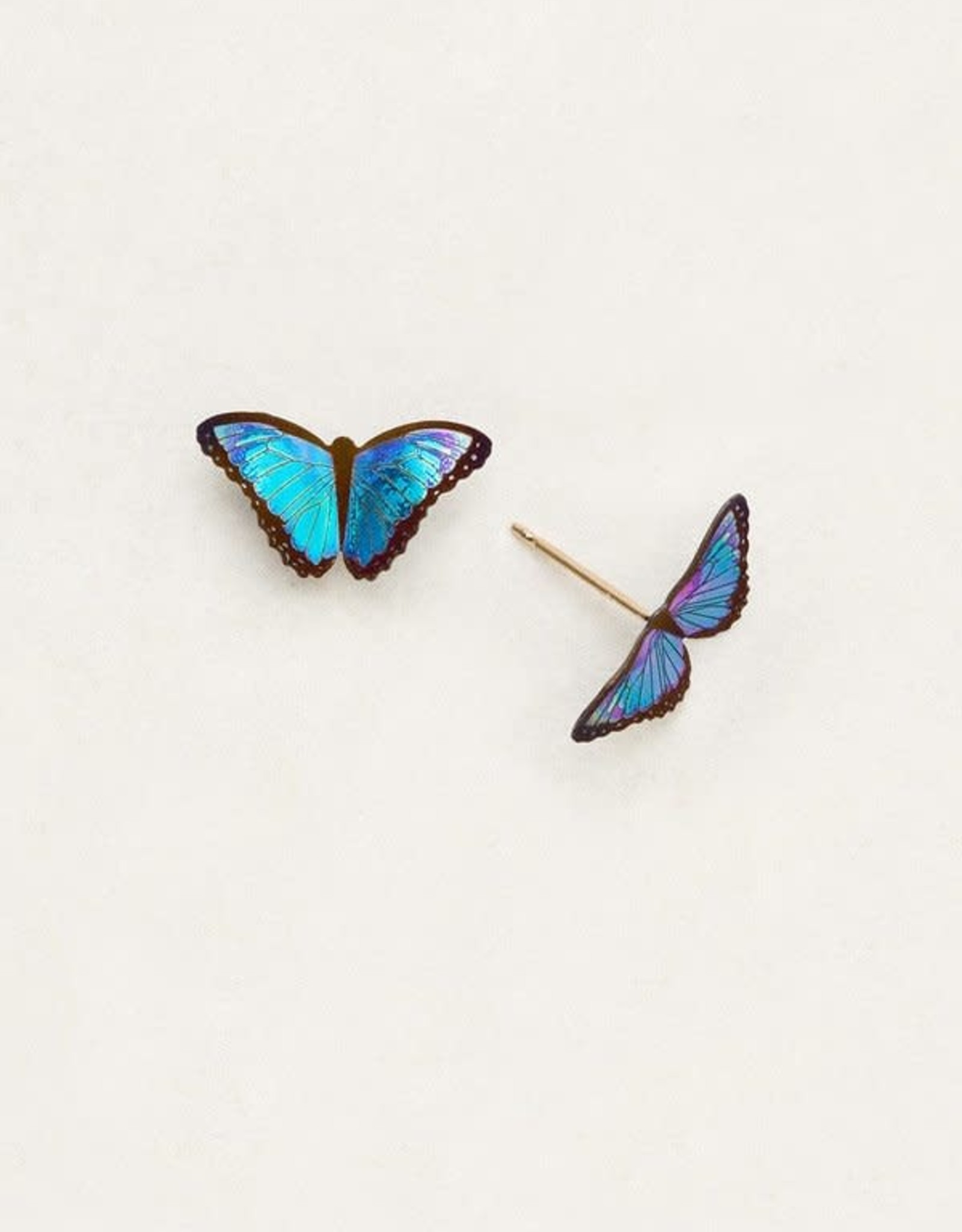 Holly Yashi Blue Radiance Petite Bella Butterfly Post Earrings