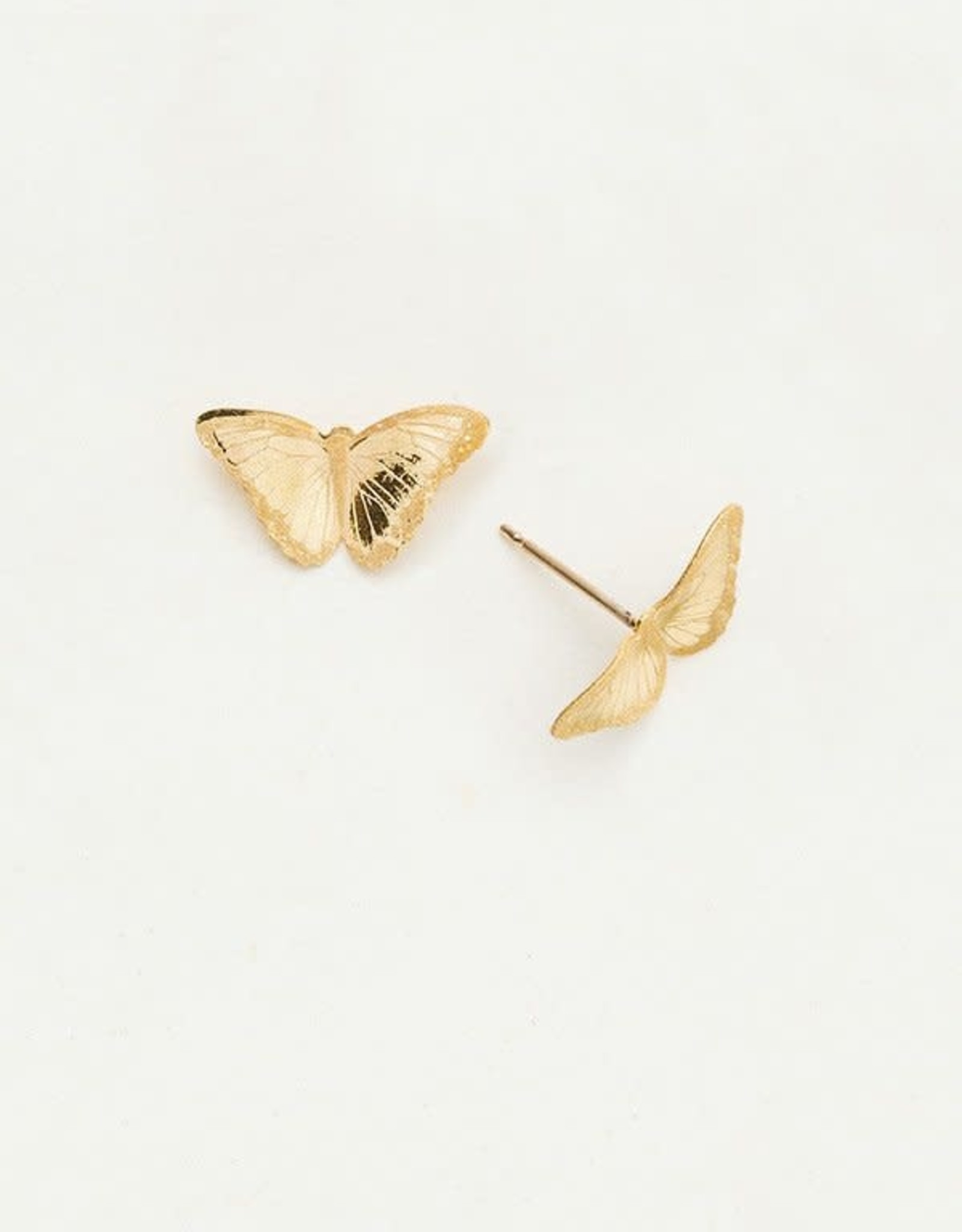 Holly Yashi Gold Petite Bella Butterfly Post Earrings