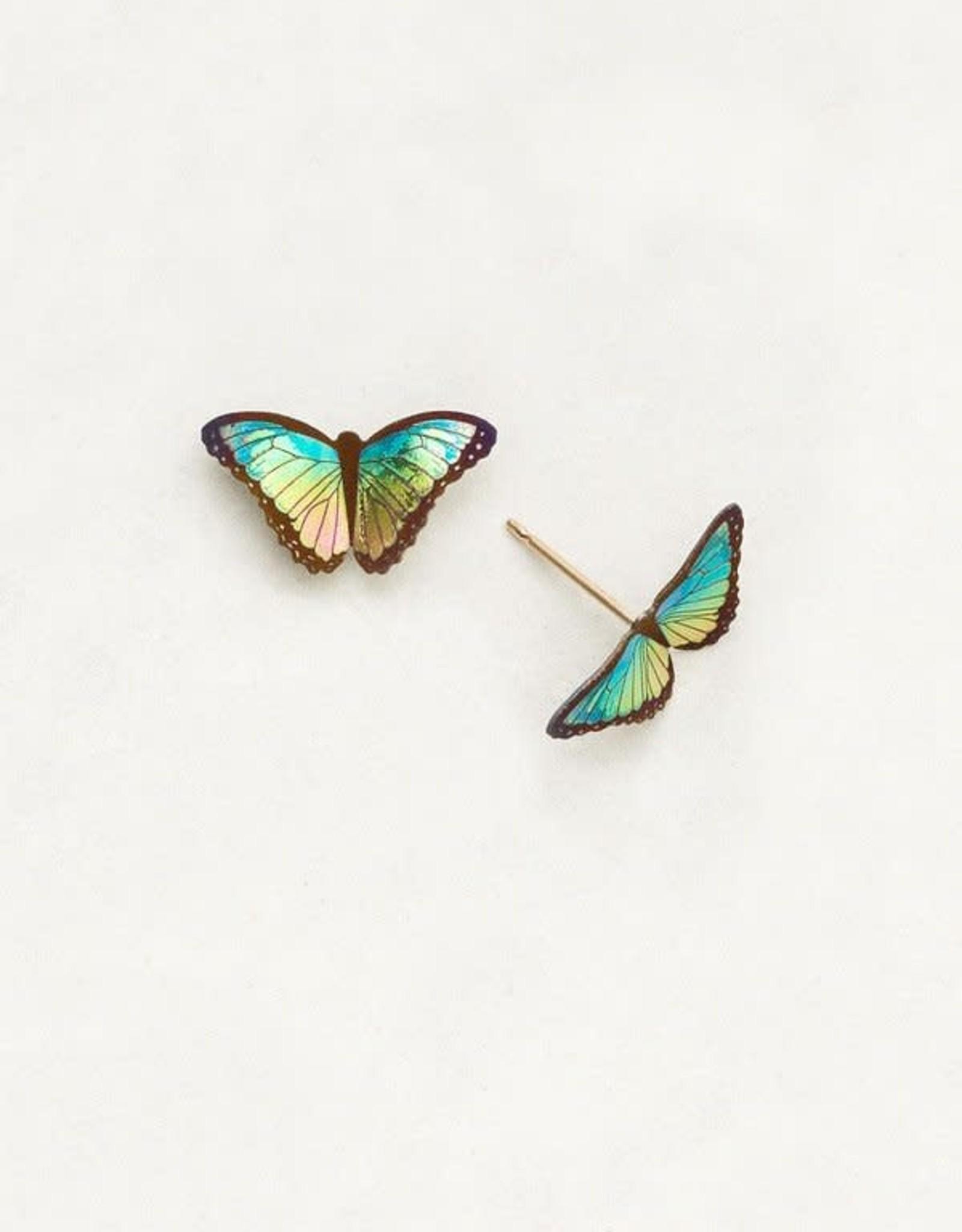 Holly Yashi Island Green Petite Bella Butterfly Post Earrings