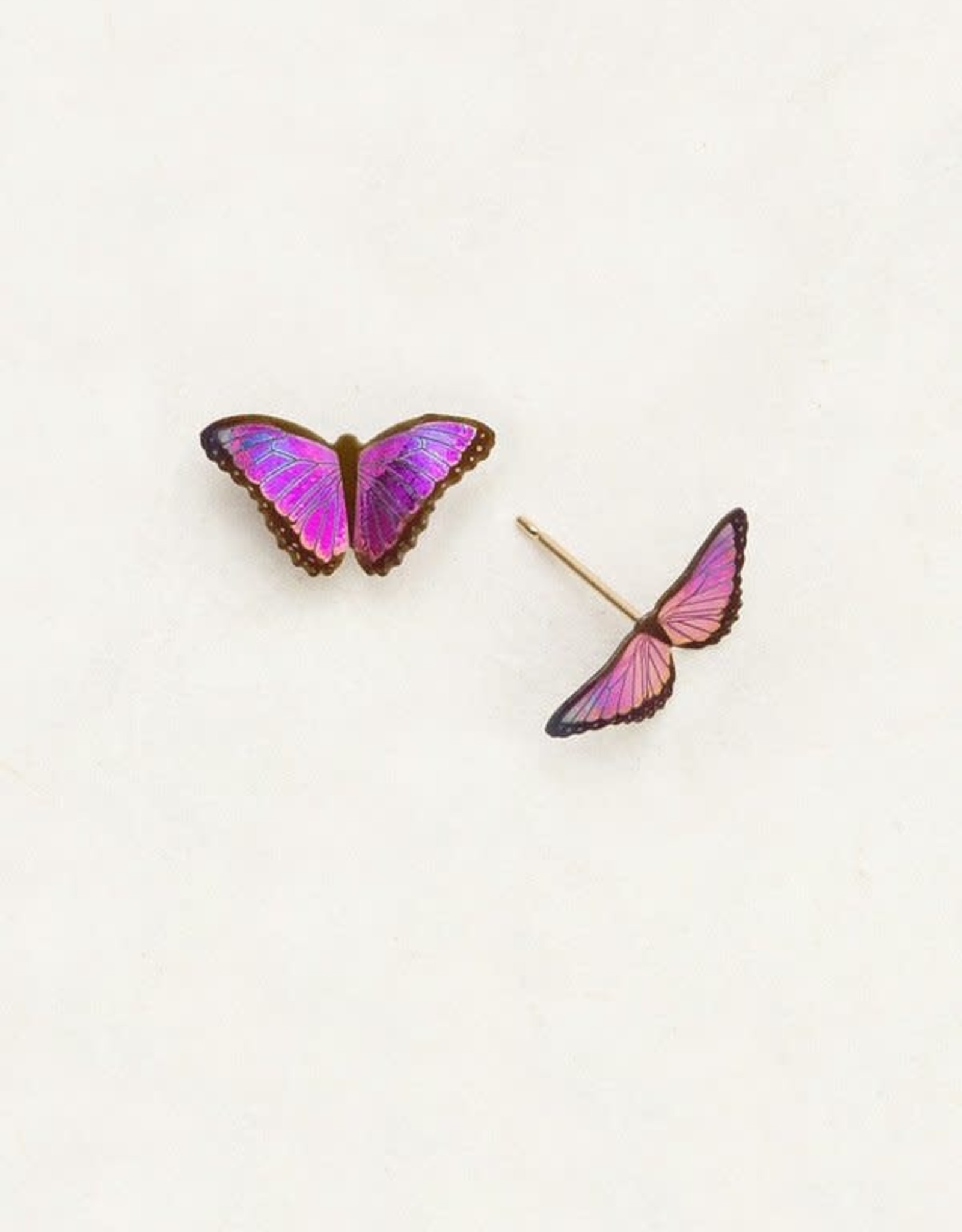 Holly Yashi Ultra Violet Petite Bella Butterfly Post Earrings