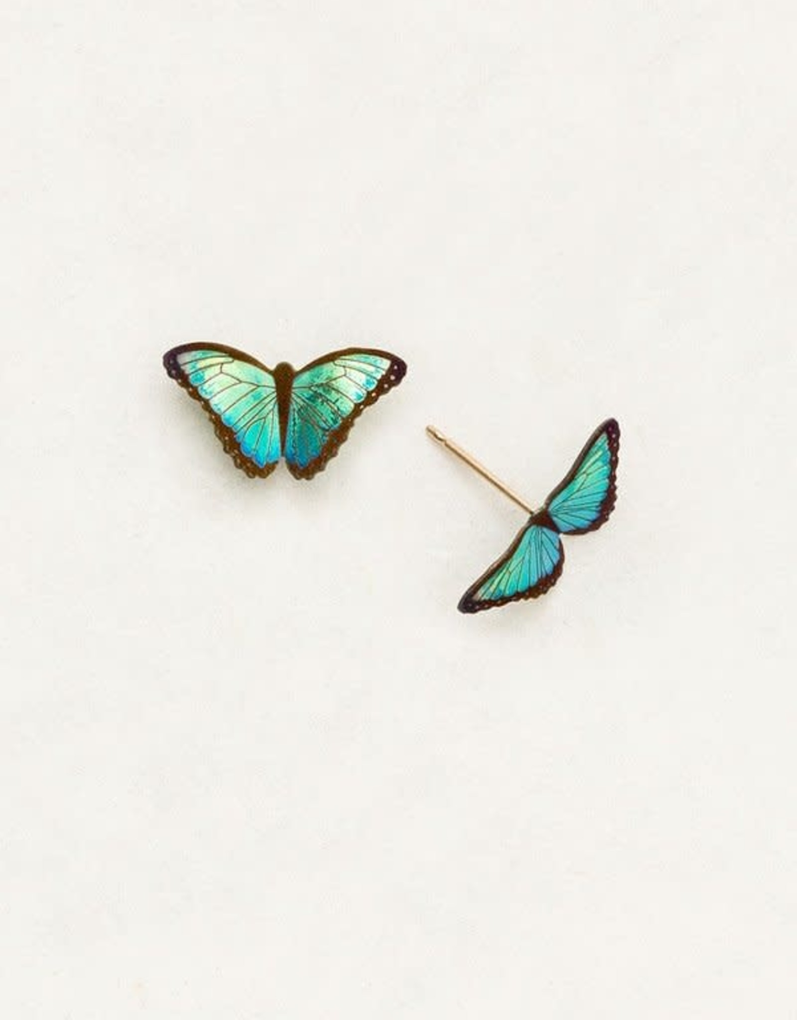 Holly Yashi Green Flash Petite Bella Butterfly Post Earrings