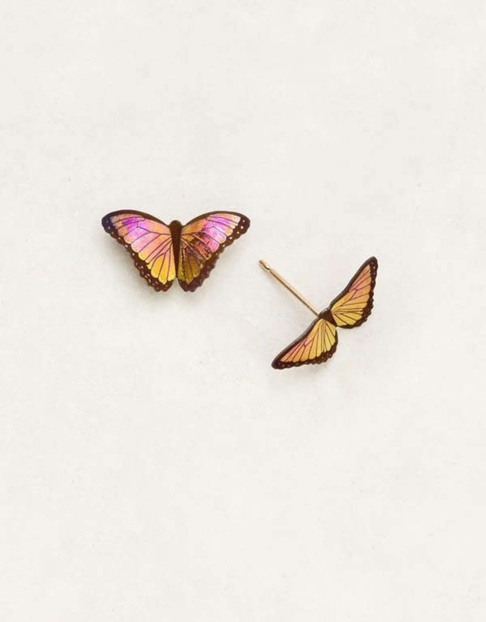 Holly Yashi Living Coral Petite Bella Butterfly Post Earrings