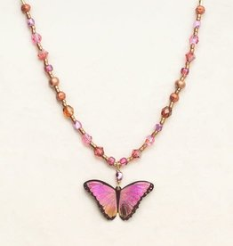 Holly Yashi Living Coral Bella Butterfly Beaded Necklace