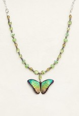 Holly Yashi Island Green Bella Butterfly Beaded Necklace