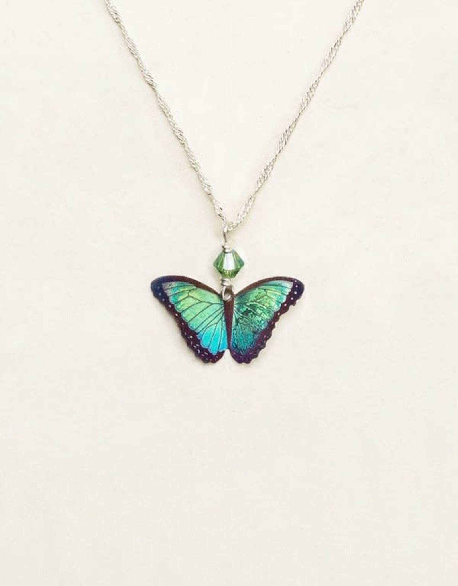 Holly Yashi Green Flash Bella Butterfly Pendant Necklace