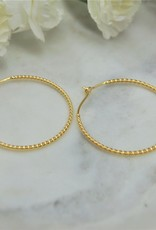Tashi 48mm Twisted Wire Hoop Earrings - Gold Vermeil