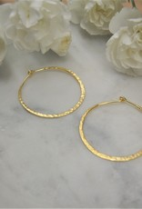 Tashi Small Hammered Wire Hoop