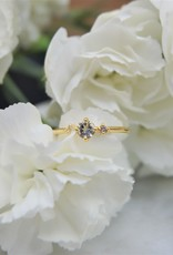 Tashi Aquamarine &  White Topaz Ring - Gold Vermiel