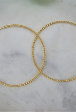 Tashi 58mm Twisted Wire Hoop Earrings - Gold Vermeil