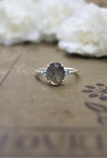 Tashi Oval Labradorite & Blue Topaz Ring