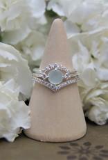 Tashi Aqua Chalcedony & Cubic Zirconia Ring
